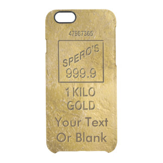 Gold Bar Clear iPhone 6/6S Case