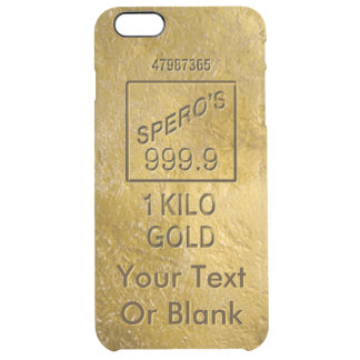 Gold Bar Clear iPhone 6 Plus Case