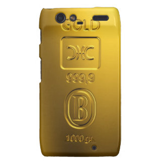 Gold bar droid RAZR covers