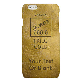 Gold Bar Glossy iPhone 6 Case