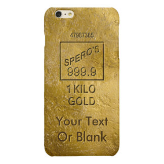 Gold Bar Glossy iPhone 6 Plus Case