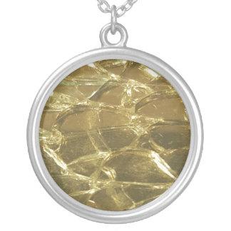 Gold Bar Golden Glitter Festive Chic Necklace