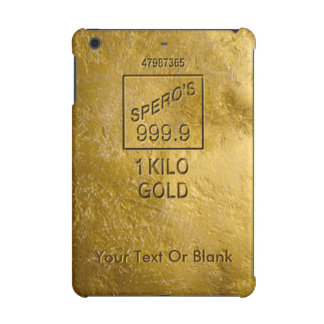 Gold Bar iPad Mini Cover