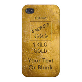 Gold Bar iPhone 4 Cover