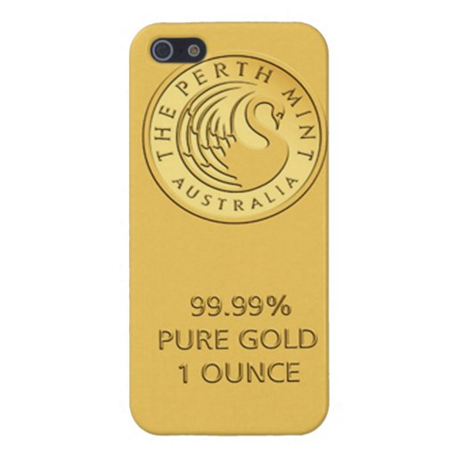 Gold Bar iPhone 5 Cover