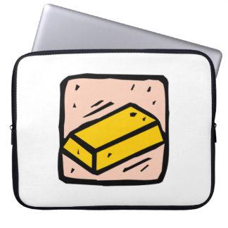 Gold Bar Computer Sleeve