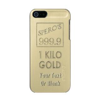 Gold Bar Metallic Phone Case For iPhone SE/5/5s