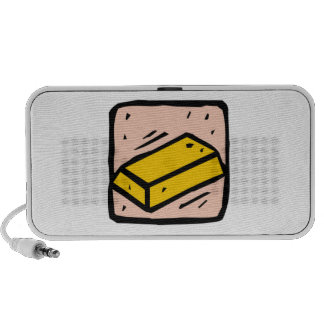 Gold Bar iPod Speakers