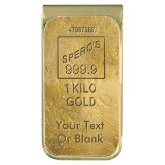 Gold Bar Gold Finish Money Clip