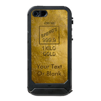 Gold Bar Waterproof iPhone SE/5/5s Case