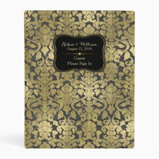 Gold Baroque Custom Wedding Sign In Book Mini Binder
