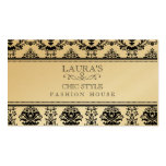 GOLD Baroque Elegant Chic Stylish Fashion Business Business Card Template