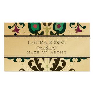 GOLD Baroque Folk Make Up Artist Business Card