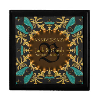 Gold Baroque Lace Wedding Anniversary Gift Box