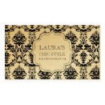 GOLD Baroque Modern Chic Stylish Fashion Business Business Cards