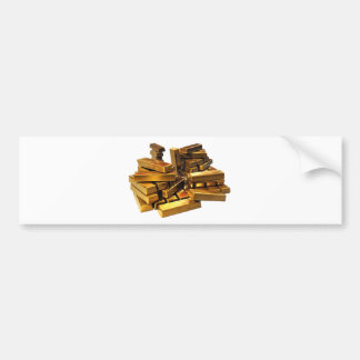 Gold Bars Bumper Sticker