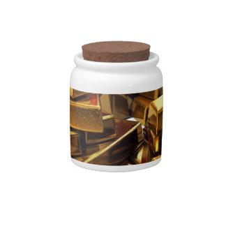Gold Bars Candy Dish