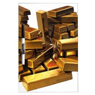 Gold Bars Dry-Erase Board