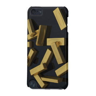Gold bars in bulk on a black background iPod touch (5th generation) cases
