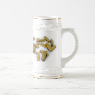 Gold bars in bulk on a white background beer stein