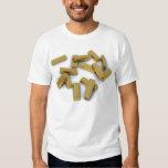 Gold bars in bulk on a white background T-Shirt