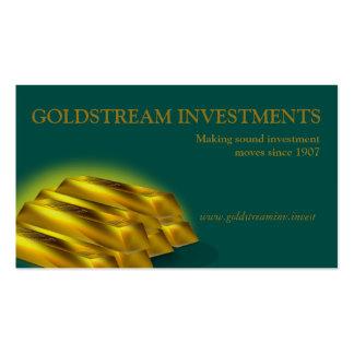 Gold Bars Investor Investment Banker Business Card