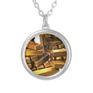 Gold Bars Silver Plated Necklace