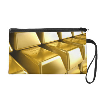 Gold Bars Wristlet Purse