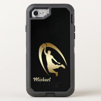 Gold Basketball Player OtterBox Defender iPhone 8/7 Case