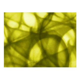 gold_batik_pattern postcard