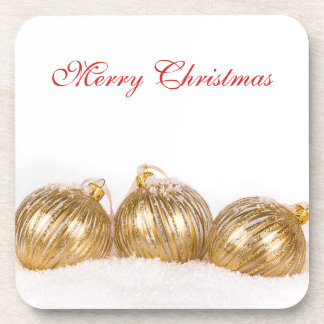 Gold Baubles Coasters