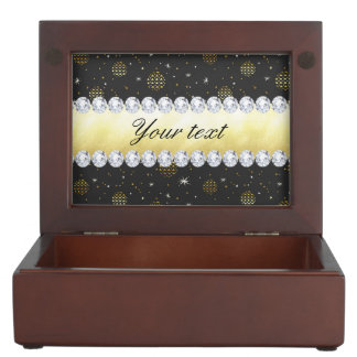 Gold Baubles Stars and Diamonds Bling Black Memory Box