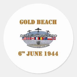 Gold Beach 6th June 1944 Classic Round Sticker