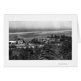 Gold Beach, Oregon Town View and Sunset Inn Card