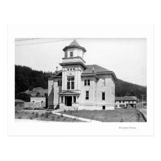 Gold Beach, Oregon View of Court House Photograp Postcard