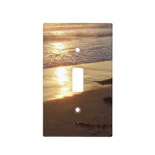 Gold Beach Sunset Light Switch Cover Zazzle