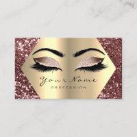 Gold Bean Glitter Makeup Artist Lashes Browns Business Card