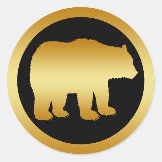 GOLD BEAR CLASSIC ROUND STICKER