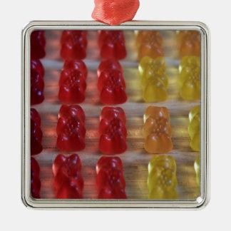 Gold Bear Gummy Bears Metal Ornament