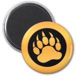 Gold Bear Paw Fridge Magnets