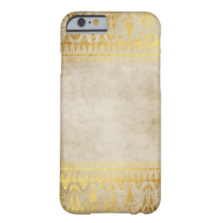 Gold Beige Egyption Patten Distressed Barely There iPhone 6 Case
