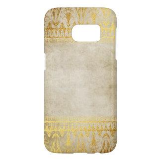 Gold Beige Egyption Patten Distressed Samsung Galaxy S7 Case