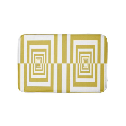 Gold Beige Modern Geometric Pattern Bathroom Mat Zazzle