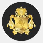 Gold Belarus Stickers