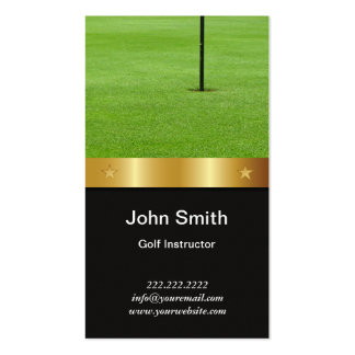 Gold Belt Golf Instructor Business Card