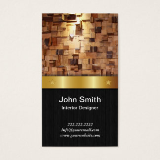 Gold Belt Interior Designer Business Card