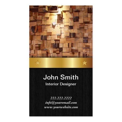 Gold Belt Interior Designer Business Card