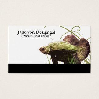 Gold Betta Siamese Fighting Fish Business Card