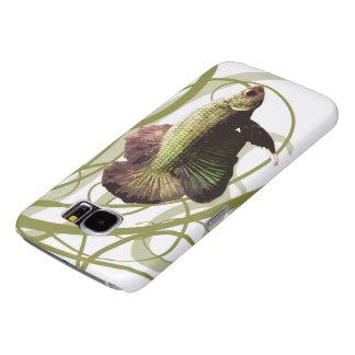 Gold Betta Siamese Fighting Fish Samsung Galaxy S6 Cases