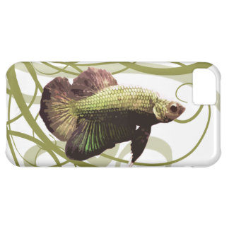 Gold Betta Siamese Fighting Fish Cover For iPhone 5C